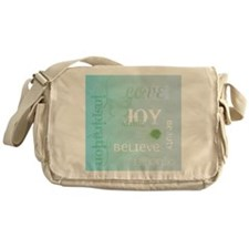 Joy Rising Aqua Sky Messenger Bag