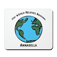 Revolves around Annabella Mousepad