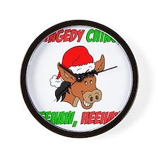 Italian Christmas Donkey Wall Clock