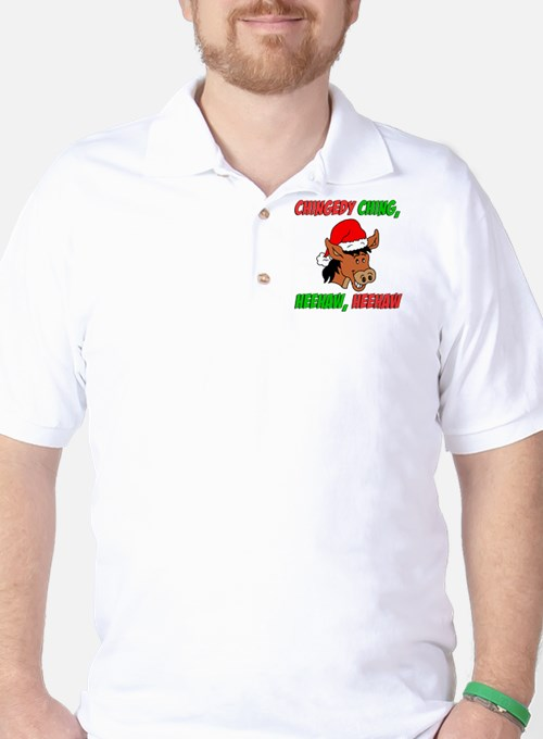 Italian Christmas Donkey Golf Shirt