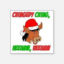 "Italian Christmas Donkey Square Sticker 3"" x 3"""
