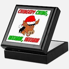 Italian Christmas Donkey Keepsake Box
