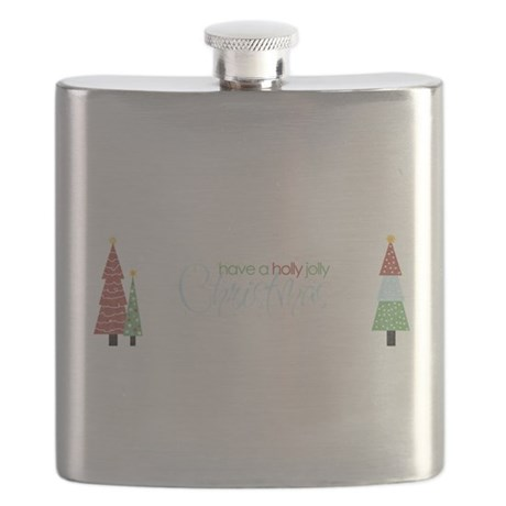Holly Jolly Christmas Flask