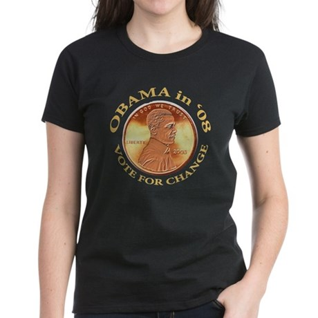 Obama 4 Change Women's Dark T-Shirt