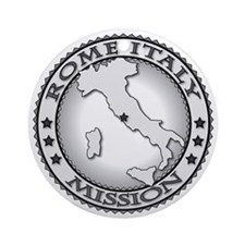 Rome Italy LDS Mission Round Ornament