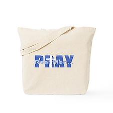 Real Men Pray - Azure Tote Bag