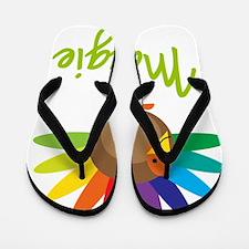 Maggie-the-turkey Flip Flops