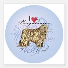 "bergamasco-round Square Car Magnet 3"" x 3"""