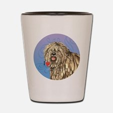 bergamasco-button Shot Glass