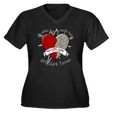 myotherhalfb Women's Plus Size Dark V-Neck T-Shirt