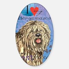 bergamasco-card Sticker (Oval)