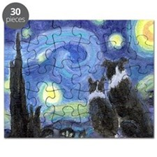 Starry Night for tile coaster Puzzle