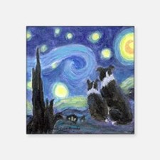 """Starry Night for tile coast Square Sticker 3"""" x 3"""""""