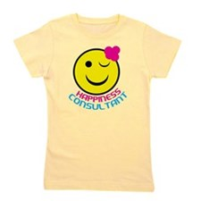 Hung-Happiness-Consultant-SmileFace.pn Girl's Tee