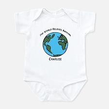 Revolves around Charlize Infant Bodysuit