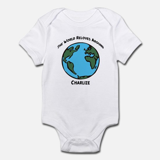Revolves around Charlize Infant Bodysuit