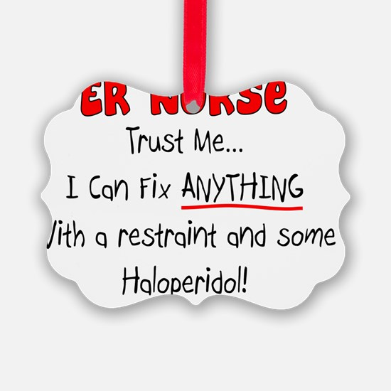 Funny ER Nurse Ornament