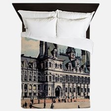 Vintage Paris Hotel Queen Duvet