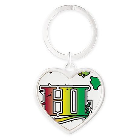 HI Heart Keychain