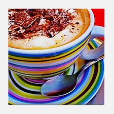 Colorful Cappuccino Tile Coaster