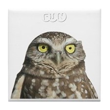 fun-birding-tours-dark-2 Tile Coaster