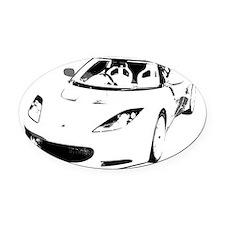 Evora unique Oval Car Magnet