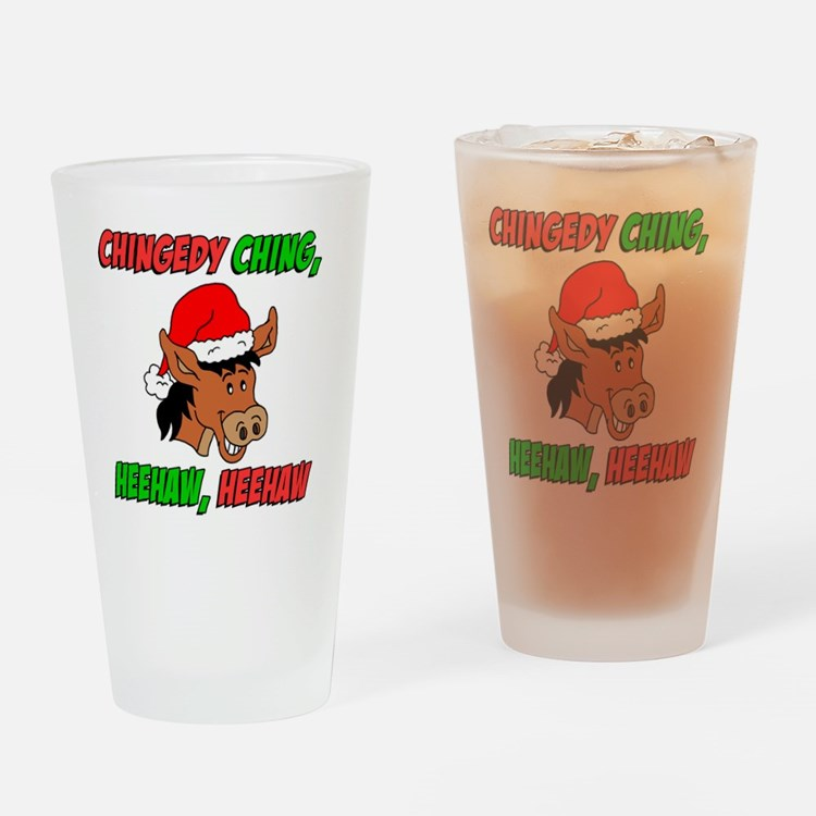Italian Donkey Apron Drinking Glass