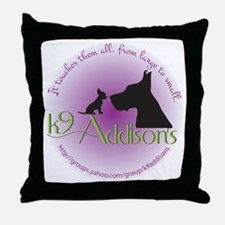 k9addisonsRoundLtBig Throw Pillow