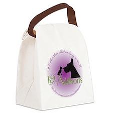 k9addisonsRoundLtBig Canvas Lunch Bag