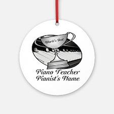 Personalized Piano Teacher Ornament (Round)
