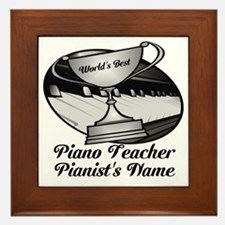 Personalized Piano Teacher Framed Tile
