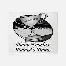 Personalized Piano Teacher Throw Blanket