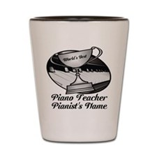 Personalized Piano Teacher Shot Glass