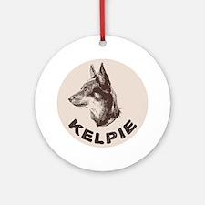 kelpie Round Ornament