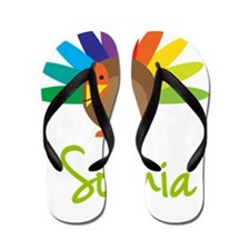 Sophia-the-turkey Flip Flops