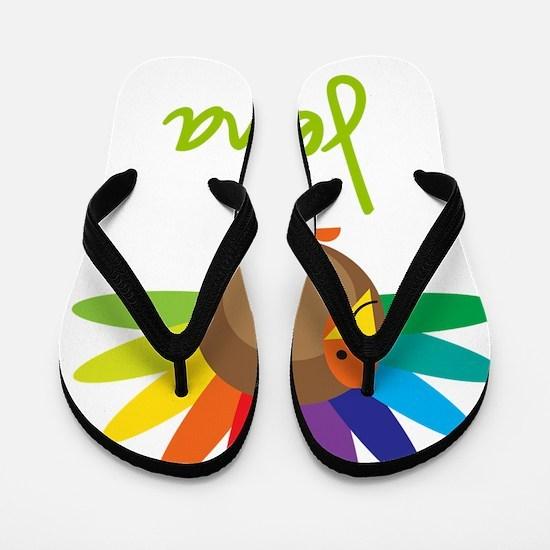 Jenna-the-turkey Flip Flops