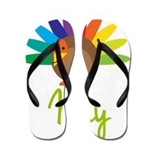 May-the-turkey Flip Flops