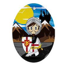 Knight Pad2 Oval Ornament