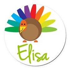 Elisa-the-turkey Round Car Magnet