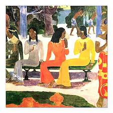 """Paul Gauguin Square Car Magnet 3"""" x 3"""""""