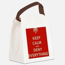 keep-calm-and-deny-eerything Canvas Lunch Bag