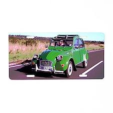 Tin Snail Retro Aluminum License Plate
