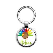 Helene-the-turkey Round Keychain