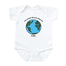 Revolves around Cara Infant Bodysuit