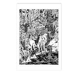 Mythmeet Unicorn, Dragon and more! Postcards (Pack