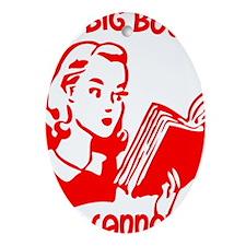 bigbooks copy Oval Ornament