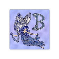"Blue Fairy Monogram BB copy Square Sticker 3"" x 3"""
