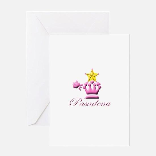 Pasadena Pink Stars Greeting Cards