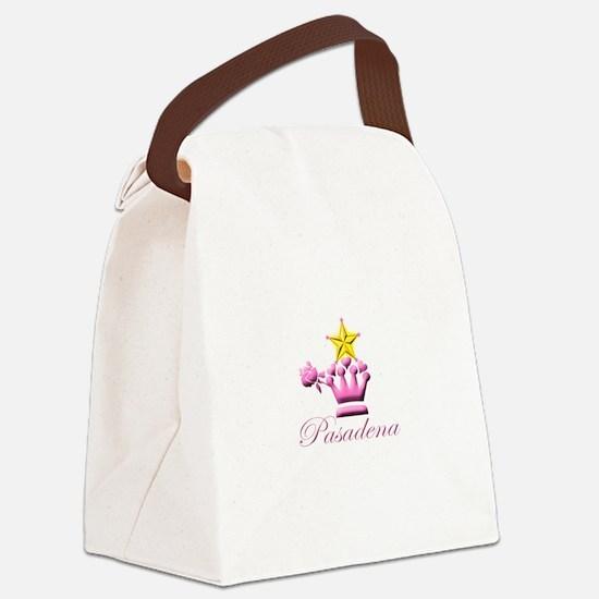 Pasadena Pink Stars Canvas Lunch Bag