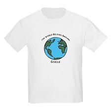 Revolves around Giselle Kids T-Shirt
